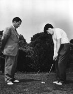 Bobby Jones instructs his son